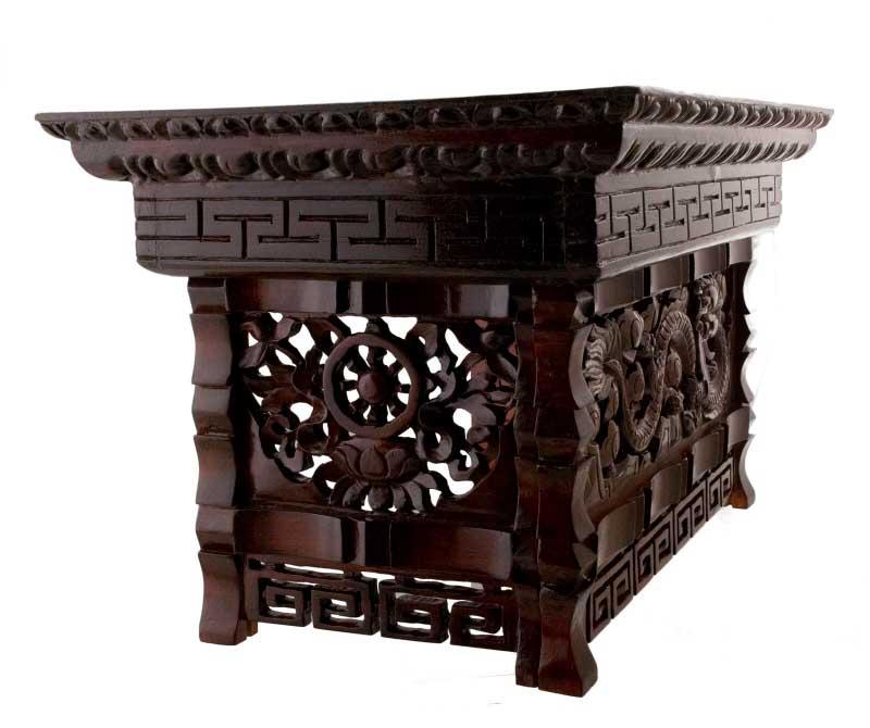 Table basse tibetaine meuble tibetain for Meuble tibetain