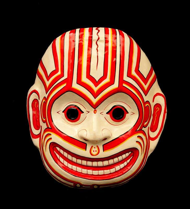 Masque nepalais tete de mort skull indra jatra nepal papier mache mask 1323 - Masque papier mache ...