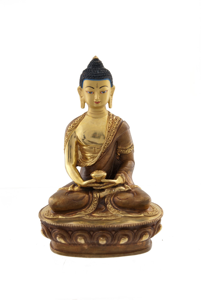 statue bouddha amitabha dhyani copper et or nepal statues tibetaines statues bouddhistes. Black Bedroom Furniture Sets. Home Design Ideas