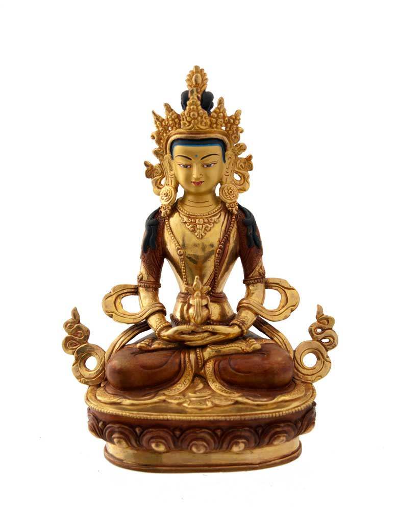 statue tibetaine du bouddha amitayus statues tibetaines. Black Bedroom Furniture Sets. Home Design Ideas